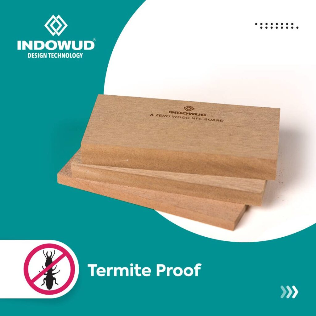 wood polymer composite board